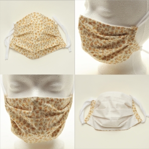 Mund-Nasen-Maske Baumwolle zweilagig haltbar gute Passform ohne Gummi und Draht