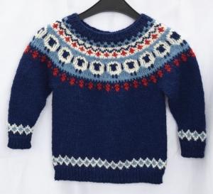 Kinder Islandpullover Schäfchen Gr.104-110 mit Alpaka handgestrickt sofort lieferbar