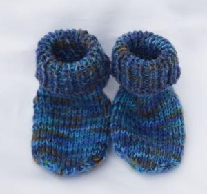 Kindersocken Babysocken 1 Jahr dick und warm handgestrickt Wolle - Handarbeit kaufen
