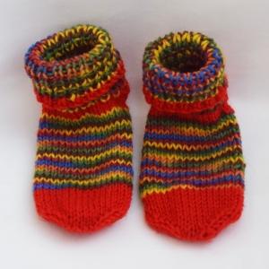 Kindersocken Babysocken 1 Jahr warm handgestrickt Wolle  - Handarbeit kaufen