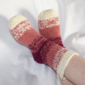 Dicke warme Kuschelsocken Alpaka handgestrickt Haussocken Sofasocken - Handarbeit kaufen