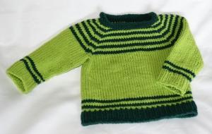 Babypullover 62-68 Baumwollmischung chic pflegeleicht bequem - Handarbeit kaufen