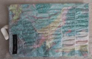Roll-Etui für Strick- und Häkelnadeln, platzsparend, genäht mit Gummizug, Wellen- und Batikmuster