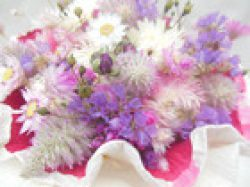 Zarter Trockenblumenstrauß, 18cm
