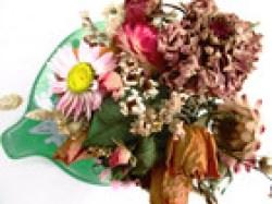 Blumensträußchen auf Deko Blatt, 15cm