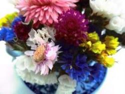 China Tasse gefüllt mit Blumen, 9cm