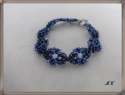 Armband TETRA in verschiedenen Blautönen