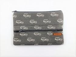 Taschenorganizer, Mäppchen, Kabeltasche mit Automuster