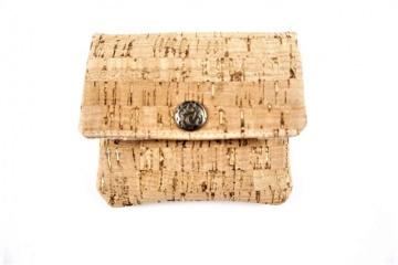 Kleines Portemonnaie für die Hosentasche aus Korkstoff