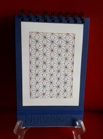 Spiral-Notizblock mit Fadengrafik aus Seidengarn - Handarbeit kaufen