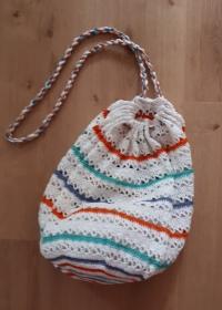 fröhliches Häkel - Netz aus Baumwollgarn - Handarbeit kaufen