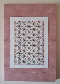 Notizbuch DIN A5 mit Fadengrafik aus Seiden - und Metallicgarn