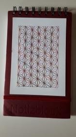 Notizblock mit Fadengrafik aus Seidengarn - Handarbeit kaufen