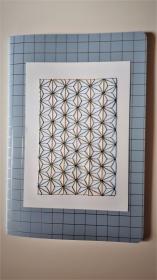 Notizheft DIN A5 mit Fadengrafik in Seidengarn - Handarbeit kaufen