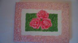 kleines Bild gemalt mit Acrylfarben und Strukturfarbe 24x18,5 Geschenk