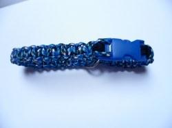 Handgeflochtenes Hundehalsband mit Cobra-Knoten 38 cm lang und 2 cm breit aus Paracord Seilen