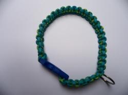 Handgeflochtenes Hundehalsband mit Cobra-Knoten 39 cm lang und 2 cm breit aus Paracord Seilen