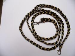 Handgeflochtene Hundeleine aus Paracord 180 cm lang, 1 cm breit