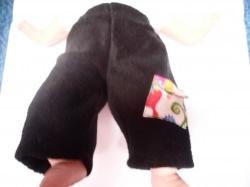 Puppen Hose Gr. 30 -40 cm. Schöne Kuschel-Hose aus schwarzen Fleece mit Tasche