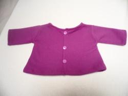 Puppenjacke für Puppengröße Gr. 45-50 Stoff: lila Fleece wunderbar weich
