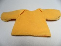 Puppenpullover für Puppengröße ca 35 Stoff: Sonnengelb Fleece