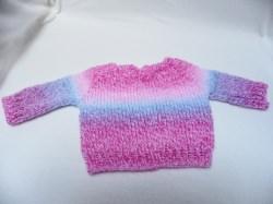 Pullover für Babys, Puppen oder Teddys von ca. 45 - 55 cm in tollen Verlaufsfarben