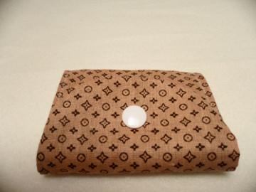 Kleine braune Geldbörse  mit Reißverschluss, Notfalltäschchen, Schmucktasche, Allzwecktasche und vieles mehr.