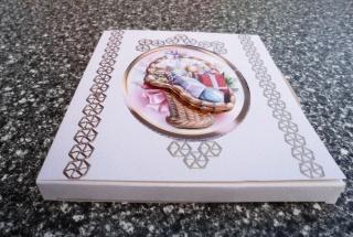CD Geschenkverpackung mit 3D Korb für Weihnachten. Auch andere Kleinigkeiten passen rein.