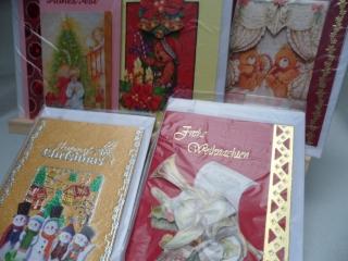 5+1 Kartenset.  5 Weihnachtskarten mit schönen unterschiedlichen 3D Motiven. . Bis 6 Karten Portogebühren 1,45
