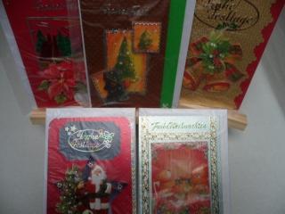5+1 Kartenset.  5 Weihnachtskarten mit schönen unterschiedlichen 3D Motiven. Das gesamte Set kostet nur 10.00€ und eine kostenlose Karte lege ich noch dazu.. Bis 6 Karten Portogeb