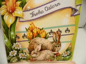 Diese riesigen Osterkarten sind etwas Besonderes. Reichlich verzierte Klappkarten mit niedlichen Tiermotiven