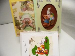 Alle 3 Klappkarten mit Umschlag für 5,50 € Auf jeder Osterkarte befindet sich ein wunderschönes 3D Bild