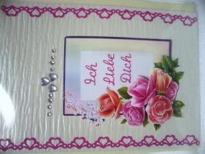 Eine anspruchsvolle 3D Karte  Ich Liebe Dich. Eine Herz voller Liebe. Bis 6 Karten Portogebühren 1,45€