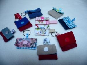 Chiptasche bunt, Einkaufswagen-CHIP Tasche, kleines Täschchen mit Schlüsselring und Chip Schlüsselanhänger