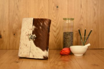 Handgefertigtes Leder Notizbuch Tagebuch Skizzenbuch Echtfell