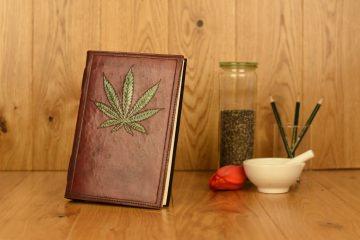 Handgefertigtes Leder Notizbuch Dealer Book