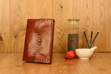 Handgefertigtes Leder Notizbuch Tagebuch Skizzenbuch Dunkelbraun  Buffalo Big Sized Journal dark brown