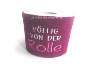 Klorollenverstecker, aus Wollfilz bestickt, Völlig von der Rolle - Handarbeit kaufen