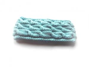Stirnband gestrickt, Damen Stirnband, Stirnband mit Zopfmuster - Handarbeit kaufen