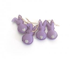 Filzhasen in lila als 4er Set - Handarbeit kaufen