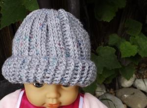 Warme Babymütze für kleine Herren. Kopfumfang ca 40 cm