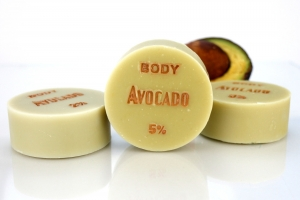 ♥ Avocadoöl-Seife BODY ohne Duft, ÜF: 5% ♥ 1 Stück: 95g ♥ Vegane Naturseife, Duschseife, Handseife, Körperseife mit Bio-Ölen von SEIFEN-EHLERT ♥