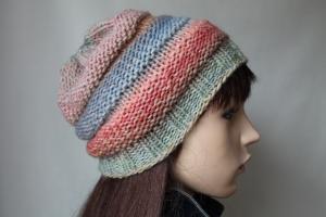 Weiche Strickmütze in verschiedenen Bonbon-Tönen Damen handmade handgestrickte Mütze Frauen warme Mütze neu - Handarbeit kaufen