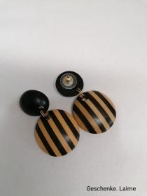 Wunderschone Ohrringe aus natürlichen Holz .Perfekte Geschenk für einen besonderen Menschen. - Handarbeit kaufen