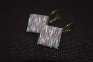 Handgemachter Schmuckstück aus Polymer Clay.Wunderschöne Ohrringe.Perfekte Geschenk für einen besonderen Menschen!