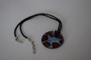 Halskette aus Muranoglas.Ketteanhänger aus Glas.Lampwork Murano  Schmuck.Perfekte Geschenk für einen besonderen Menschen! - Handarbeit kaufen
