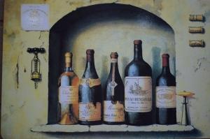 Wein Bild auf Kork