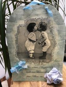 Wandbild Vintage Serviettentechnik  Bild Geschenk - Handarbeit kaufen