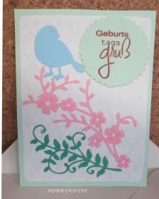 Grußkarte Geburtstag, Geburtstagsgruß mit Kuvert - Handarbeit kaufen