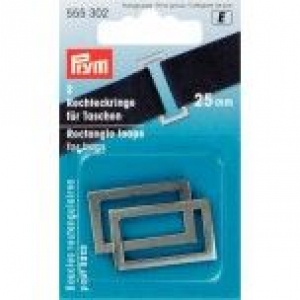 Rechteckringe für Taschen 25 mm, altsilberfarbig, 2 Stück in Packung.Kurzwaren,Taschezubehör. - Handarbeit kaufen